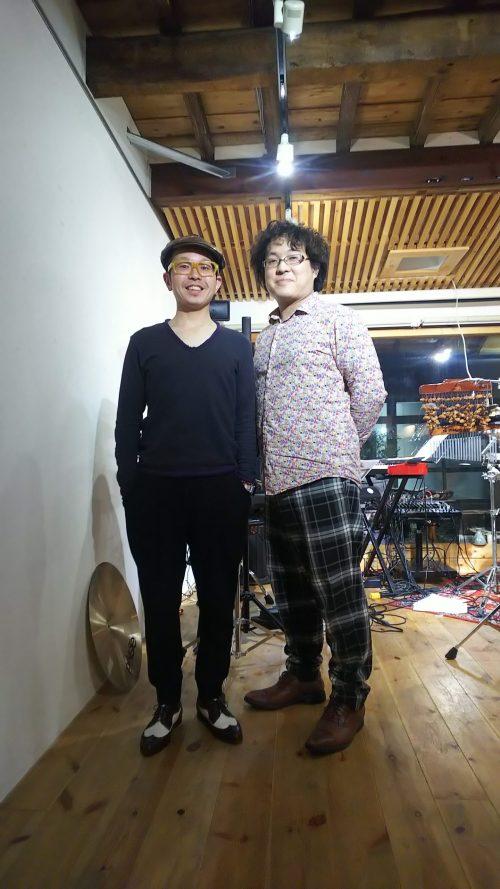 須藤信一郎(piano) 熊本比呂志(percussion) の両氏。